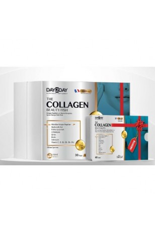 Day 2 Day The Collagen Beauty Fish 30 Saşe + The Collagen Beauty Elastin 500 mg 60 Tablet